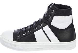 Amiri Bi-Color Leather Sneakers w/ Tags