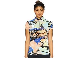 Jamie Sadock Crunchy Never Tamed Print Short Sleeve Top Women's Short Sleeve Pullover
