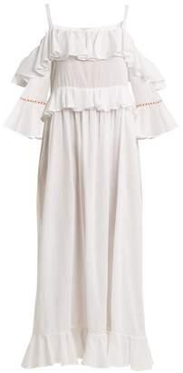 Daft - Paxos Off Shoulder Dress - Womens - White
