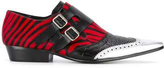Haider Ackermann zebra print monk shoes