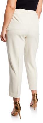 Kasper Plus Stretch-Crepe Cropped Trousers, Plus Size
