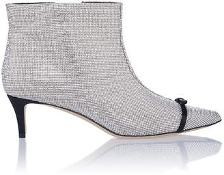 Marco De Vincenzo Crystal Kitten Heel Booties
