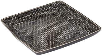 Murmur - Dansu Textured Serving Plate - Square - Charcoal