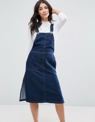 Vero Moda Denim Pinafore Dress $38 thestylecure.com