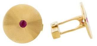 Tiffany & Co. 14K Ruby Cufflinks
