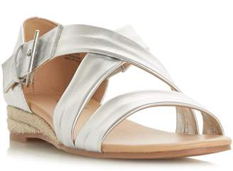 Head Over Heels Kylaa Cross Strap Mini Wedge Sandals