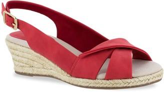 b54ada132a3c Easy Street Shoes Maureen Women s Espadrille Wedge Sandals