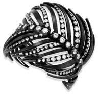 Staurino 18k Black Feather Ring w/ Diamonds