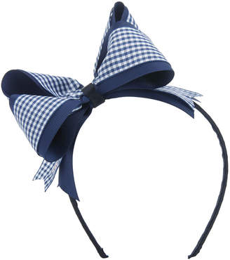 Vineyard Vines Girls Gingham Bow Headband