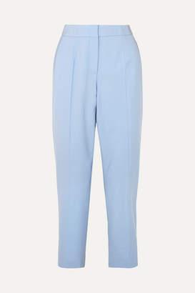 Oscar de la Renta Cropped Wool-blend Twill Slim-leg Pants - Blue