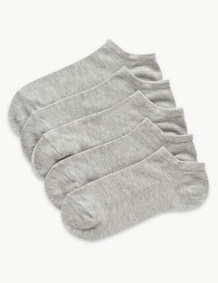 Marks and Spencer 5 Pair Pack Supersoft Trainer Liner Socks