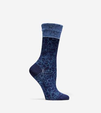 Cole Haan Floral Crew Socks