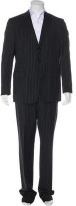 Versace Striped Wool Suit w/ Tags