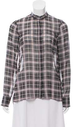Derek Lam Plaid High-Low Top