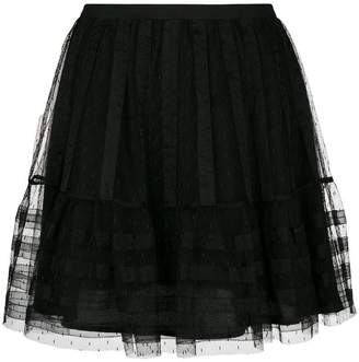 RED Valentino tulle pleated short skirt