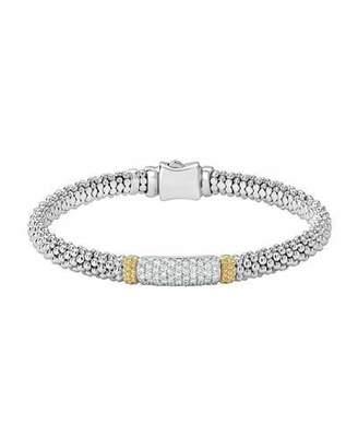 Lagos Diamond Lux Caviar 6mm Single Station Bracelet