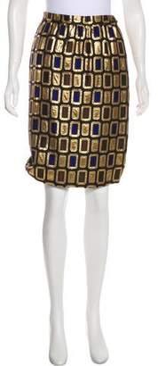 Givenchy Vintage Brocade Knee-Length Skirt