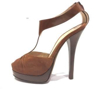 Fendi Brown Suede Sandals