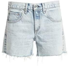 Rag & Bone Rag& Bone Women's Cut-Off Denim Raw Hem Boy Shorts - Clean Madison - Size 27 (4)