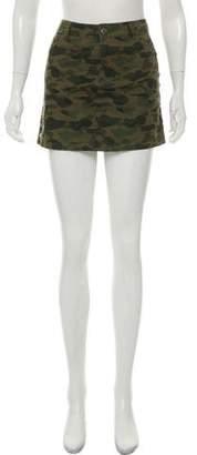 Rebecca Minkoff Camouflage Print Mini Skirt