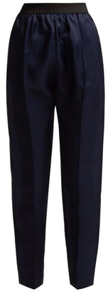Albus Lumen - Lujio Silk Organza Trousers - Womens - Navy