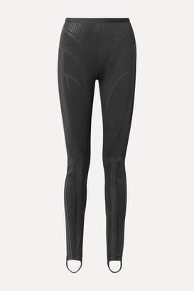 Thierry Mugler Embossed Neoprene Skinny Stirrup Pants - Black
