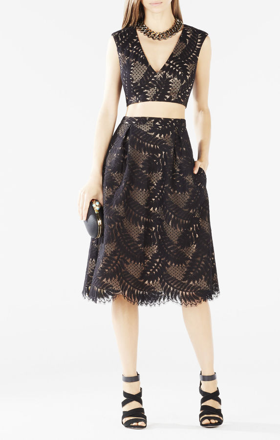 BCBGMAXAZRIATyrah Lace Cutout Two-Piece Dress