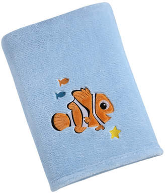 Disney Nemo Solid Coral Fleece Blanket with Applique