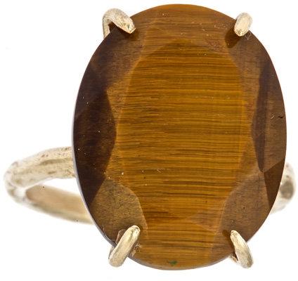 Raw Jewelry by JLRicci Oval Tiger's Eye Cocktail Ring