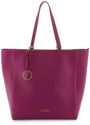 Versace Open-Top Leather Tote