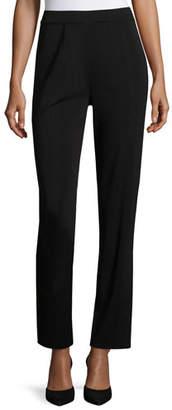 Misook Straight-Leg High-Rise Pants