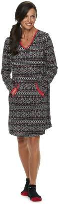 Croft & Barrow Women's Printed Sleepshirt & Sock Pajama Set