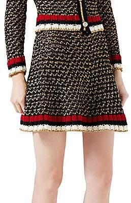 Gucci Women's Web Lurex Blend Skirt