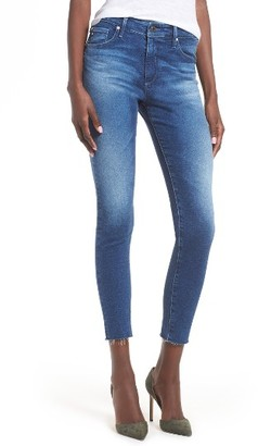 Women's Ag The Farrah High Waist Crop Skinny Jeans $215 thestylecure.com