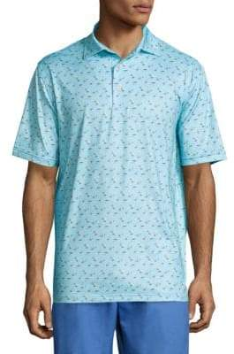 Peter Millar Crown Sport Labrador Tackle Printed Polo