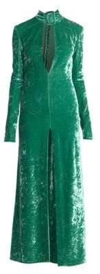 ATTICO Velvet Buckle Dress