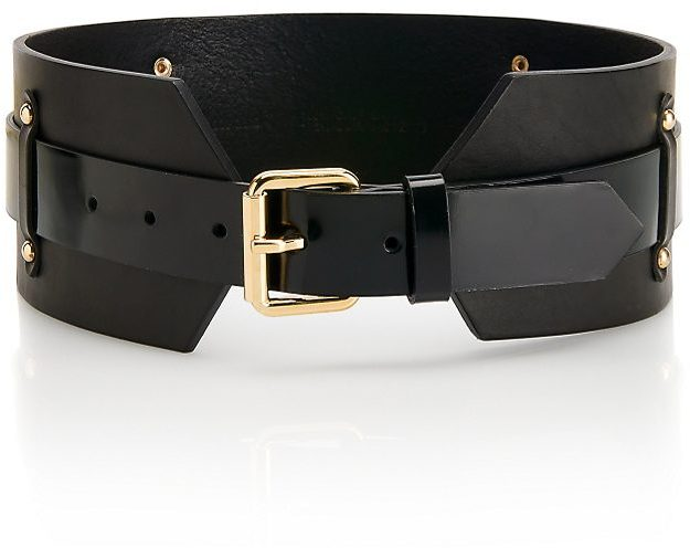 Wide Leather 'Jiji' Belt by HUGO
