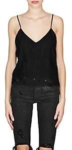 Amiri Women's Floral Lace Tank-Black