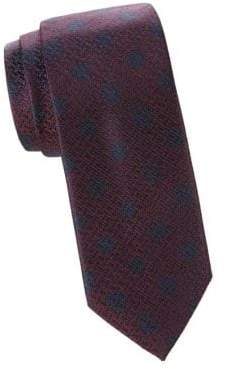 Canali Jacquard Silk Dot Tie