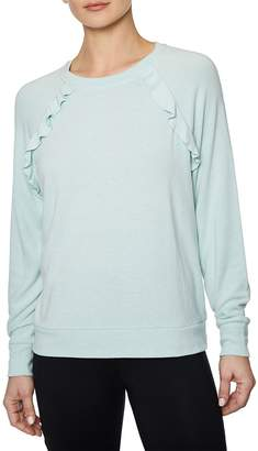 Betsey Johnson Women's Ruffled Raglan-Sleeve Pullover