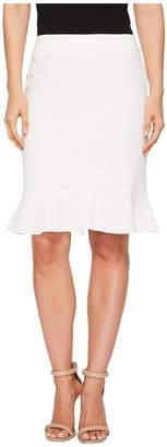 Tahari ASL Bi-Stretch Slim Skirt w/ Ruffle Bottom Women's Skirt