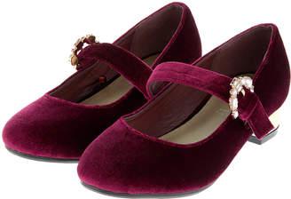 Monsoon Briony Buckle Velvet Charleston Shoes