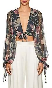 Zimmermann Women's Melody Floral Silk Crop Top
