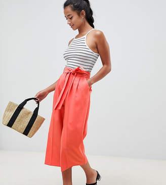 Asos DESIGN Petite mix & match culotte with tie waist