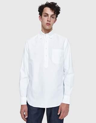 Gitman Brothers White Oxford L/S Popover