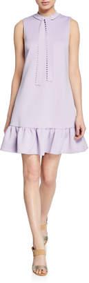 Betsey Johnson Laser-Cut Techno Knit Shift Dress