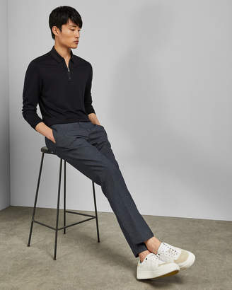 Ted Baker MYTYPE Long sleeved half zip polo top