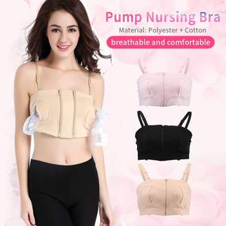 TOPINCN Breast Pump Bra,Women Hands-Free Maternity Breast Feeding Pumping Bra Adjustable Wire Free Nursing Bras