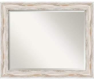 Amanti Art Bathroom Wall Mirror - Alexandria White Wash