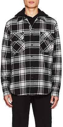 Off-White Men's Checked Cotton-Blend Shirt